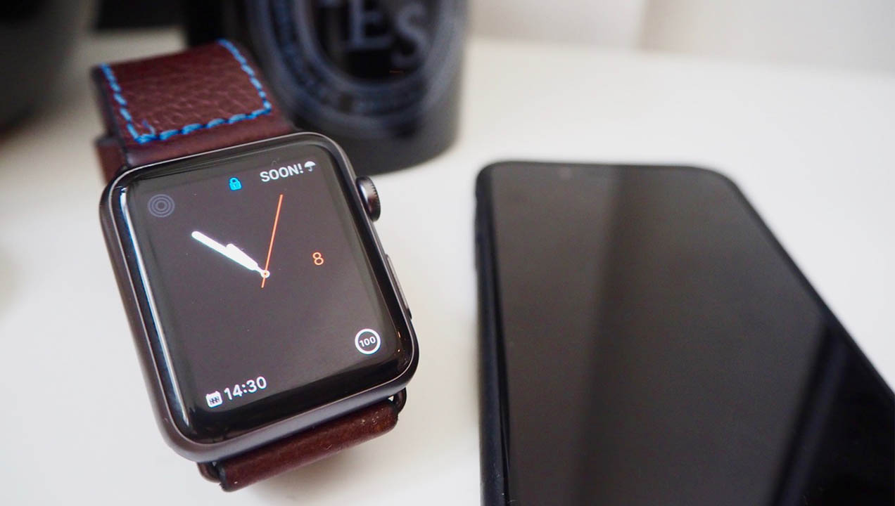 Close up of Apple Watch