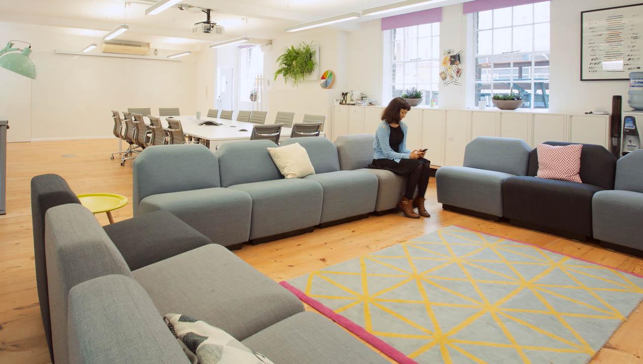 Loft sofa area