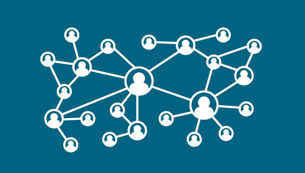 Image showing links between people