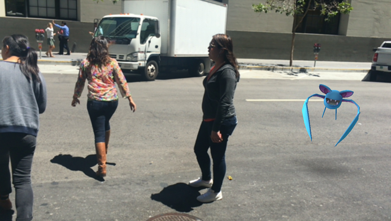 Our team braves San Francisco rush hour traffic to catch Pokémon...wherever they appear.