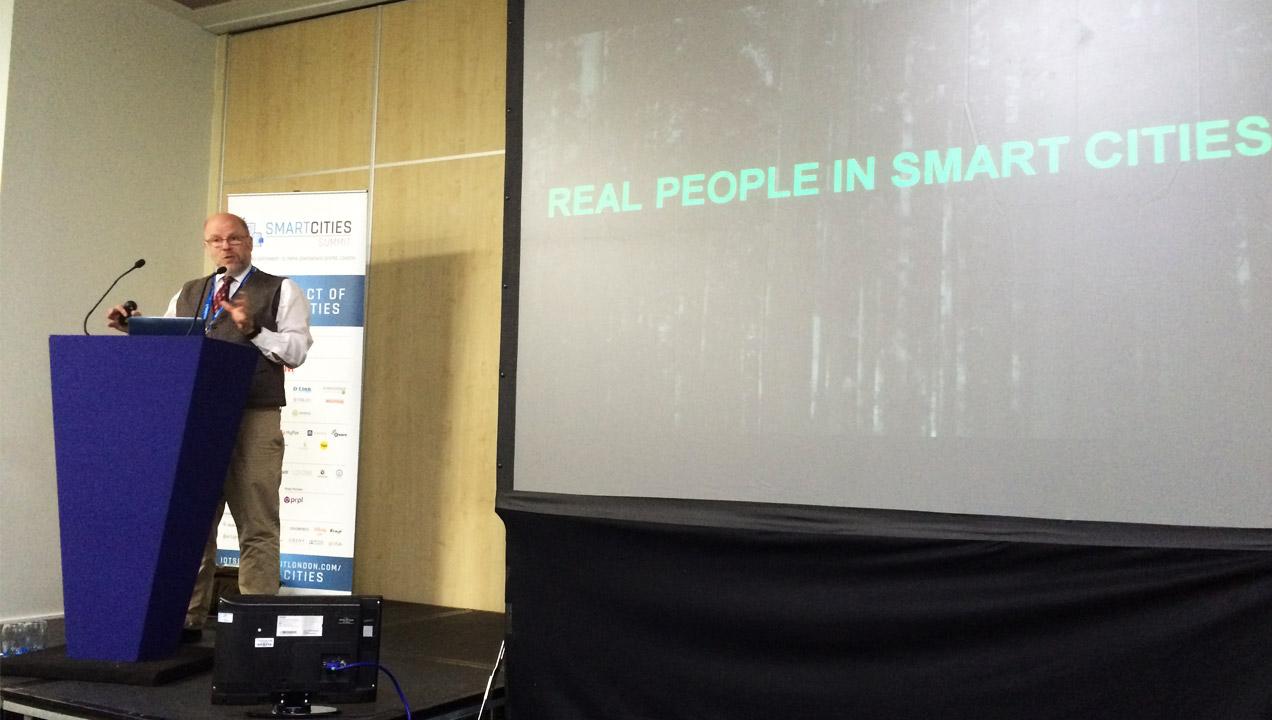 Andrew Swartz speaking at Smart Summit London