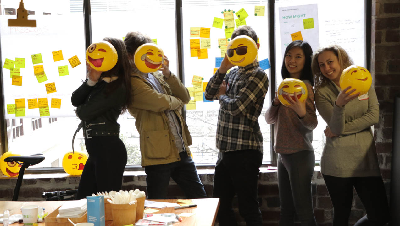 Jammers posing with Emoji faces