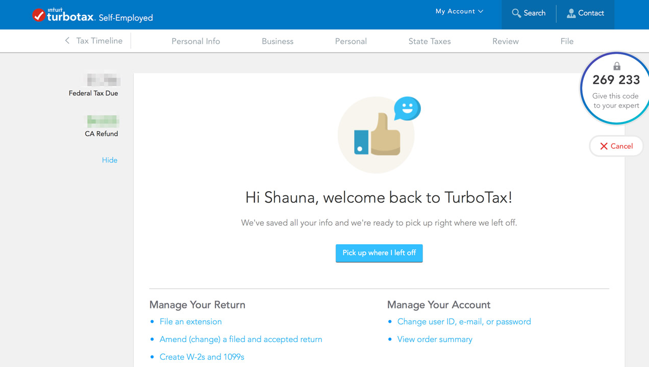 a delightful customer support experience in turbotax sutherland labs