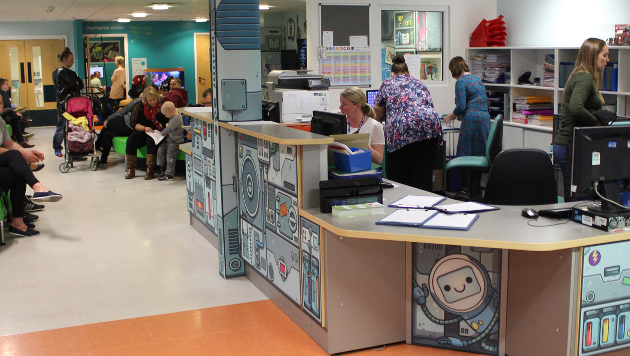 Photo of children's ward when our consultants were interviewing staff.