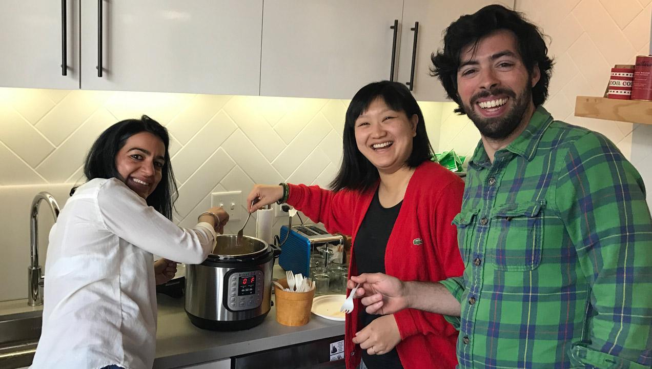 Shauna and the team making chilli
