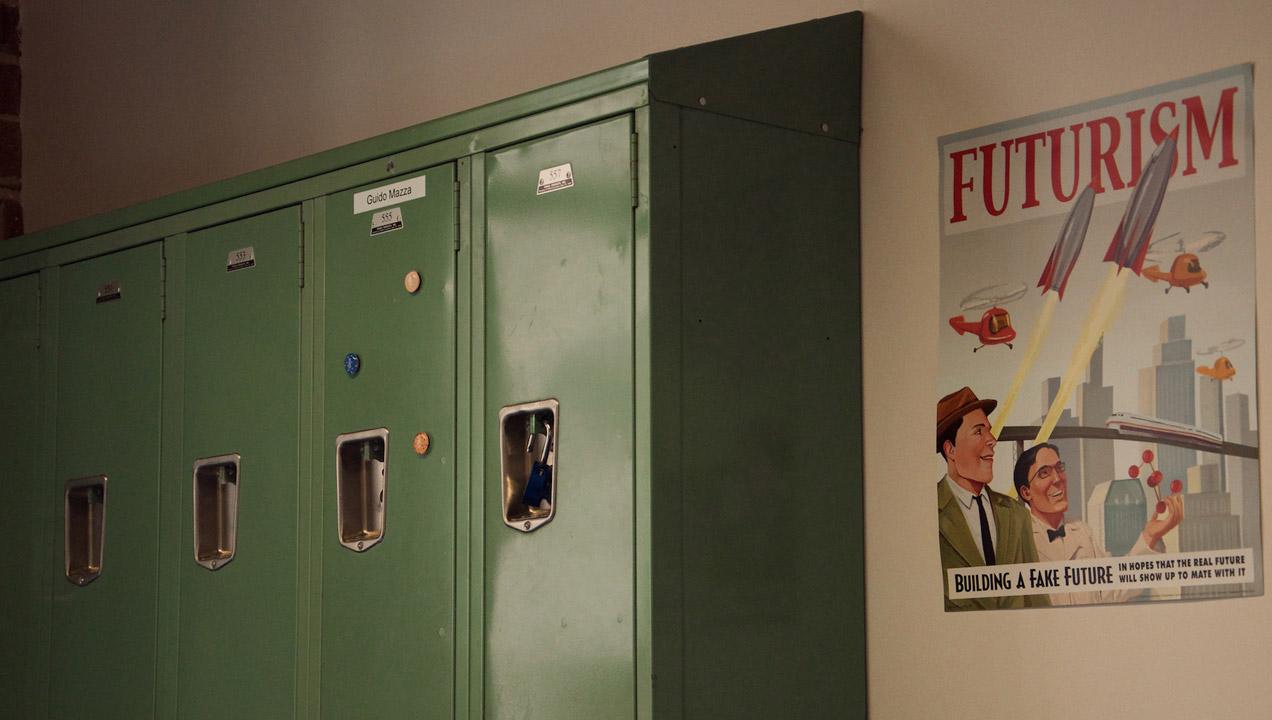 Photo of lockers in our SF week