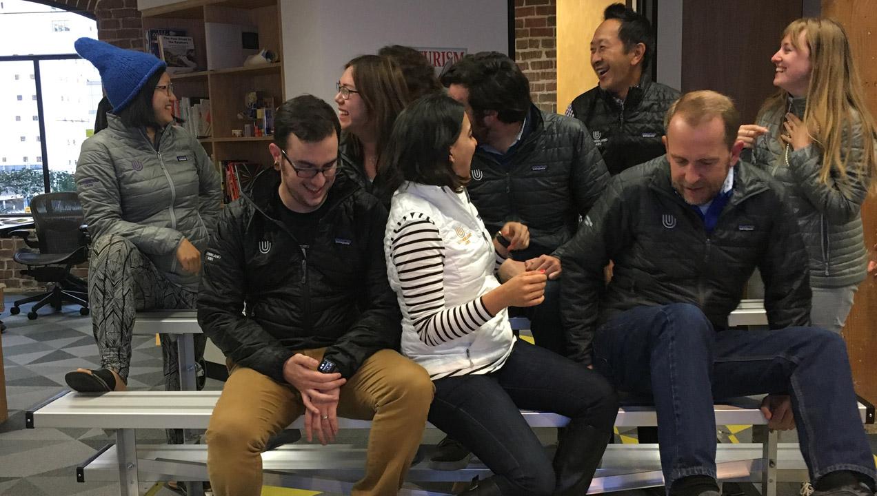 A team meeting