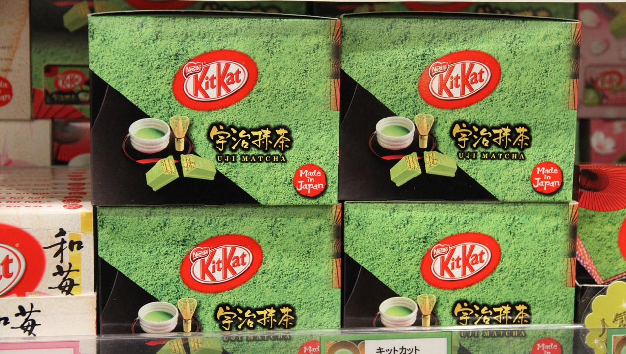 Image of matcha tea kit Kats