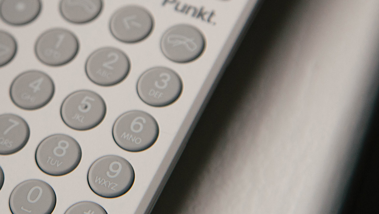 Close up of the punkt phone