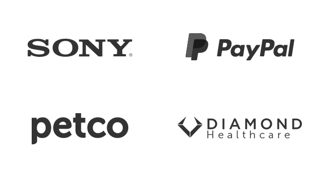 Clients - Sony, PayPal, Petco and Diamond Healthcare