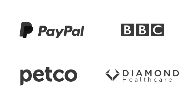 Clients - PayPal, BBC, Petco and Diamond Healthcare