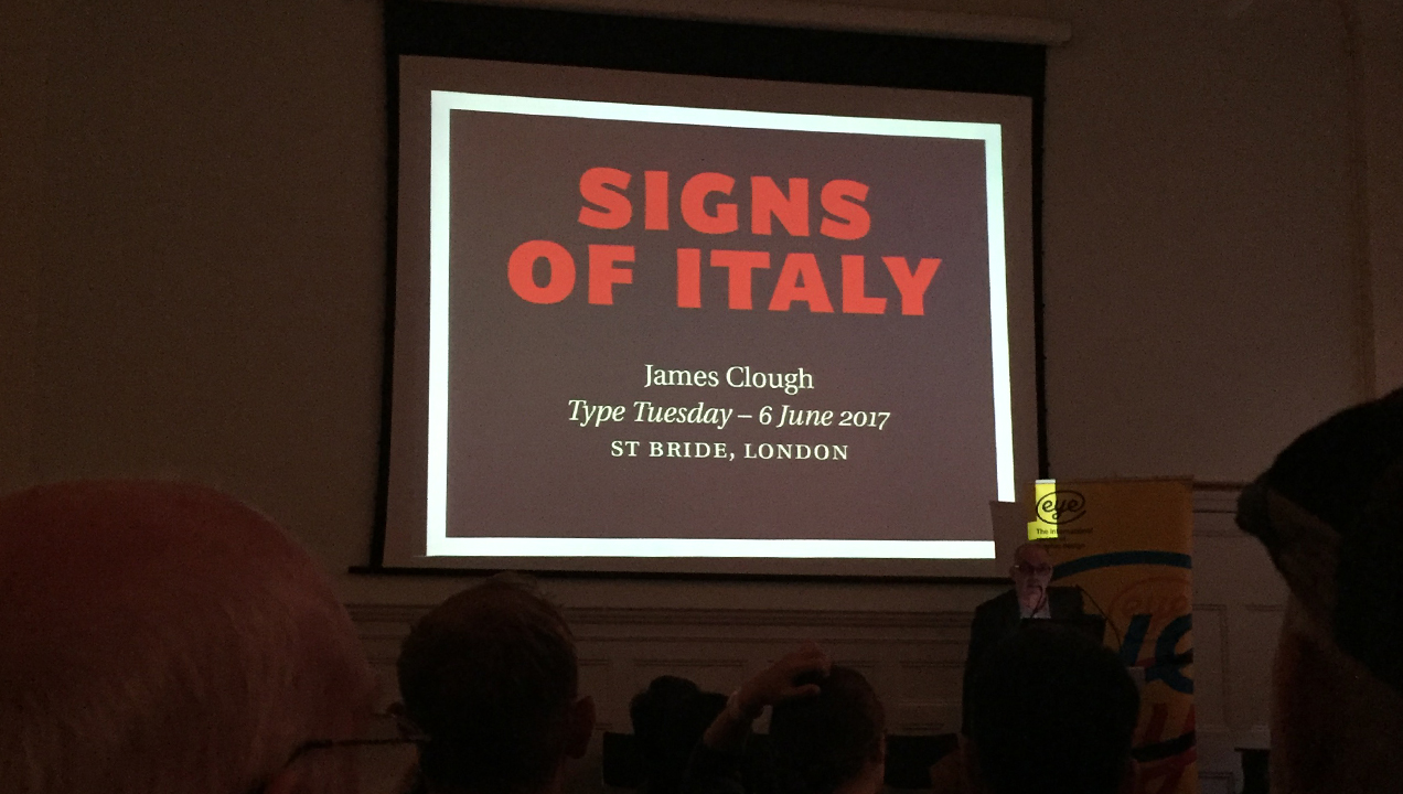 Type Tuesdays - Signs of Italy