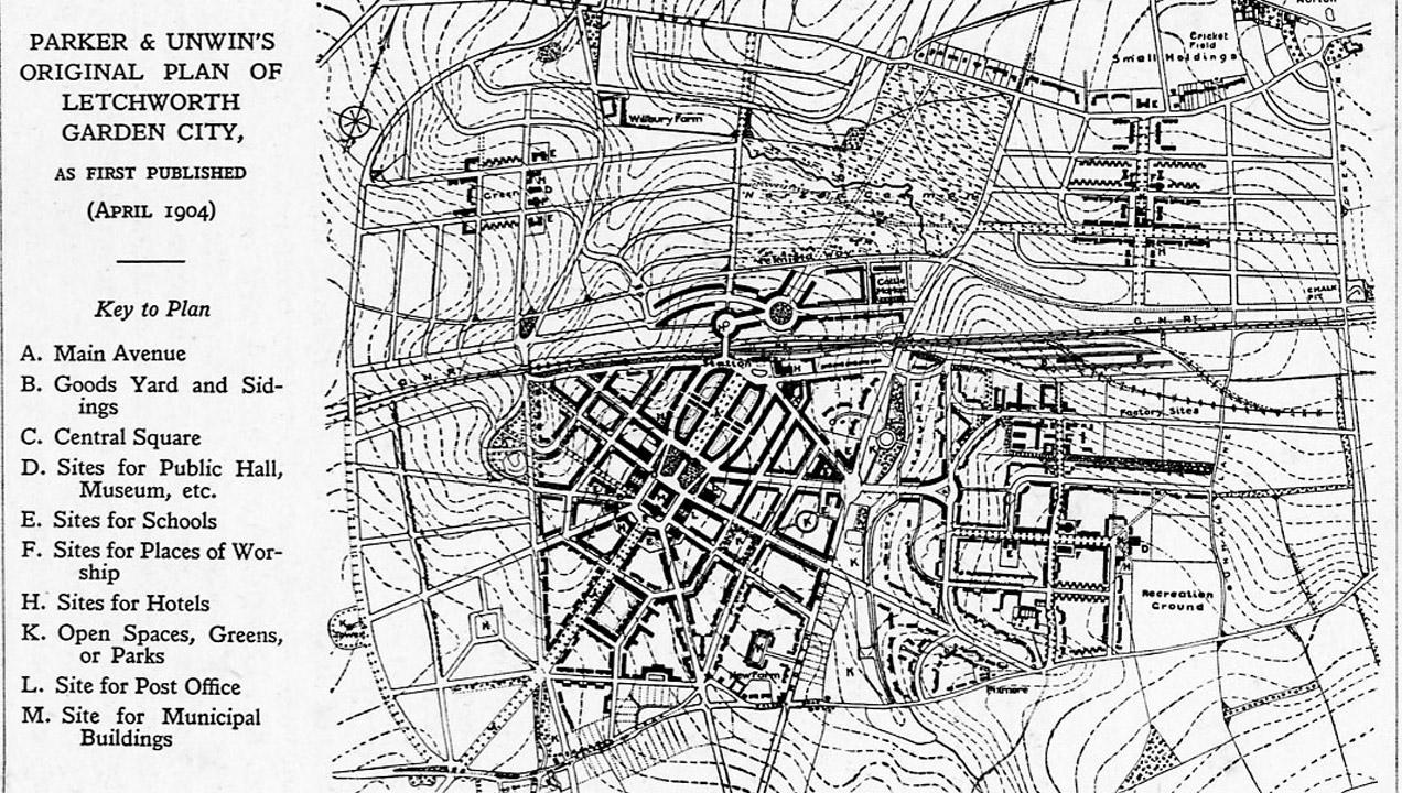 City plans of Letchworth Garden City