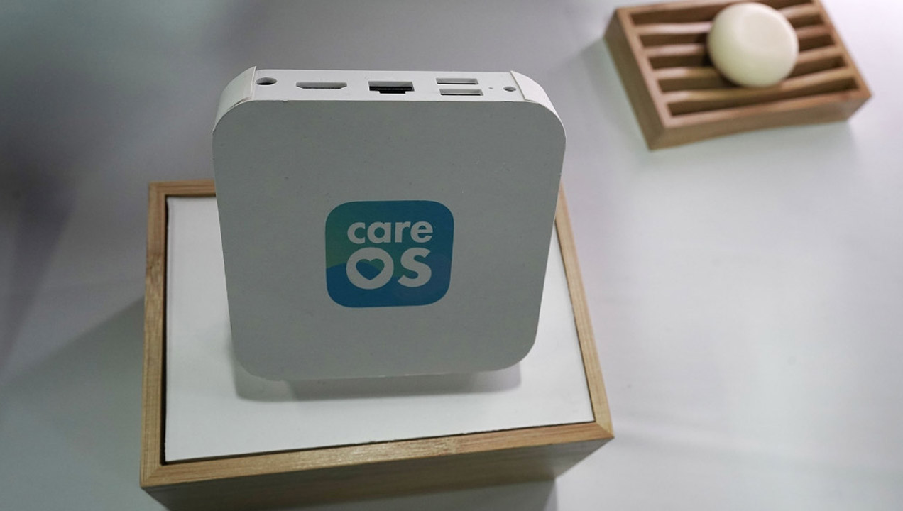 CareOS smart hub for the bathroom. Alex Wong—Getty Images