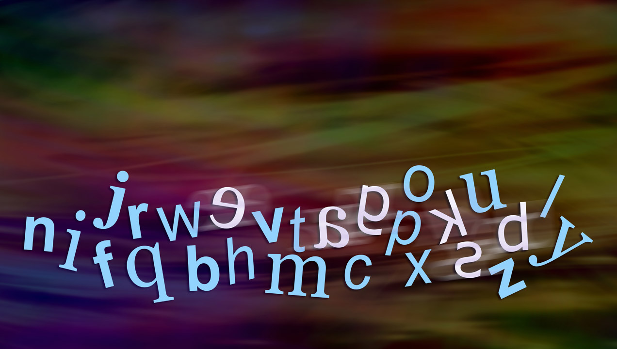 How text might appear to someone with dyslexia