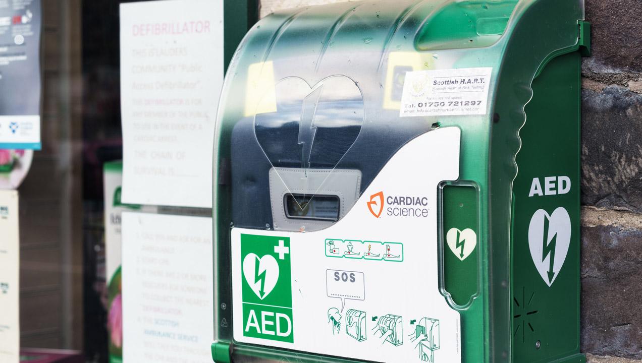 A public defibrillator