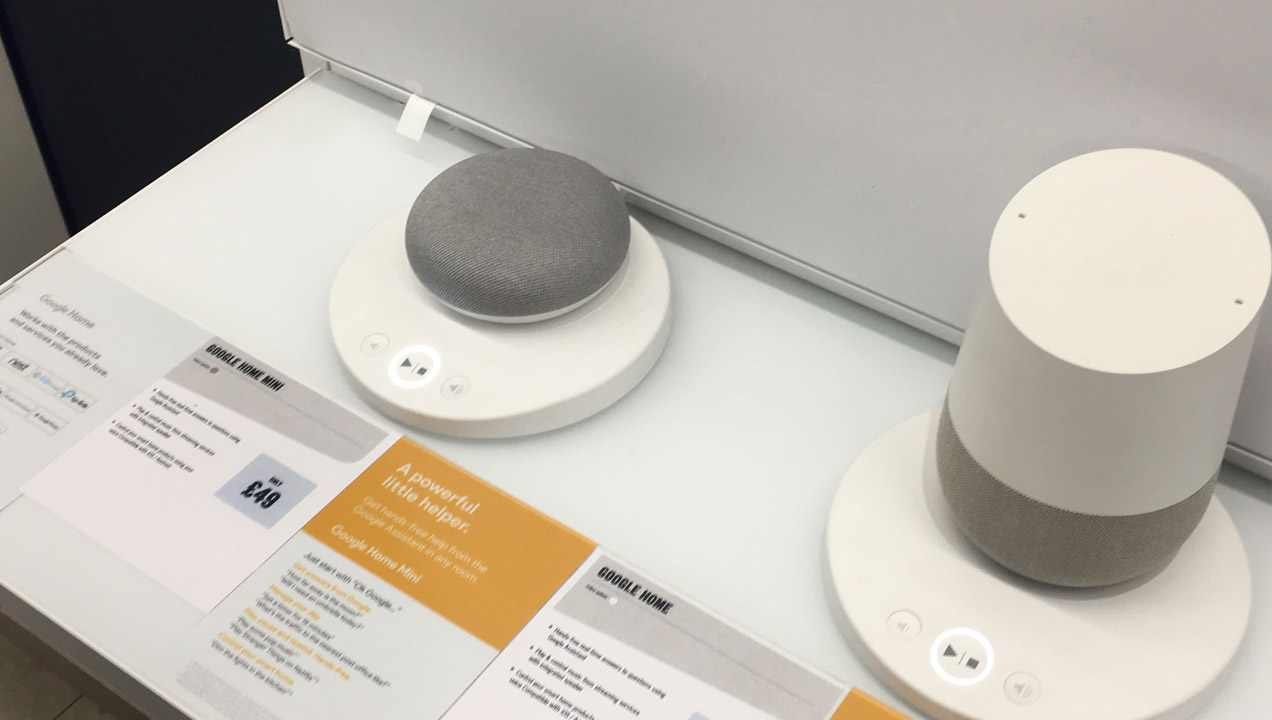 Images of Google home instore