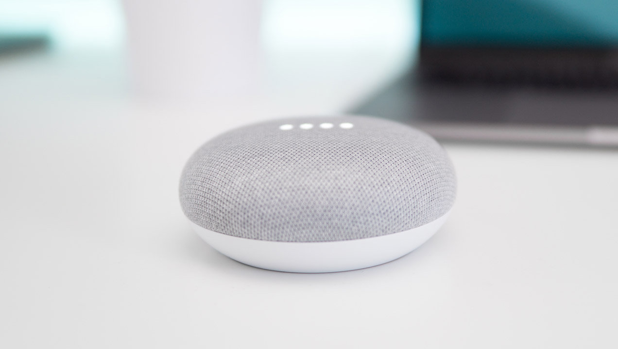 A Google Home mini