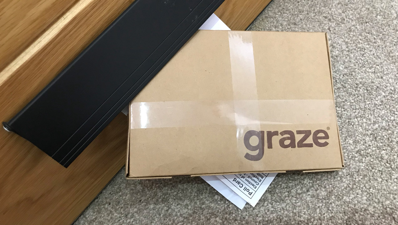 A graze subscription box