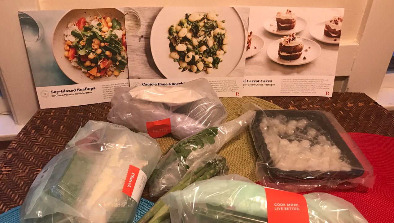 Unboxed food subscription from Plated.com