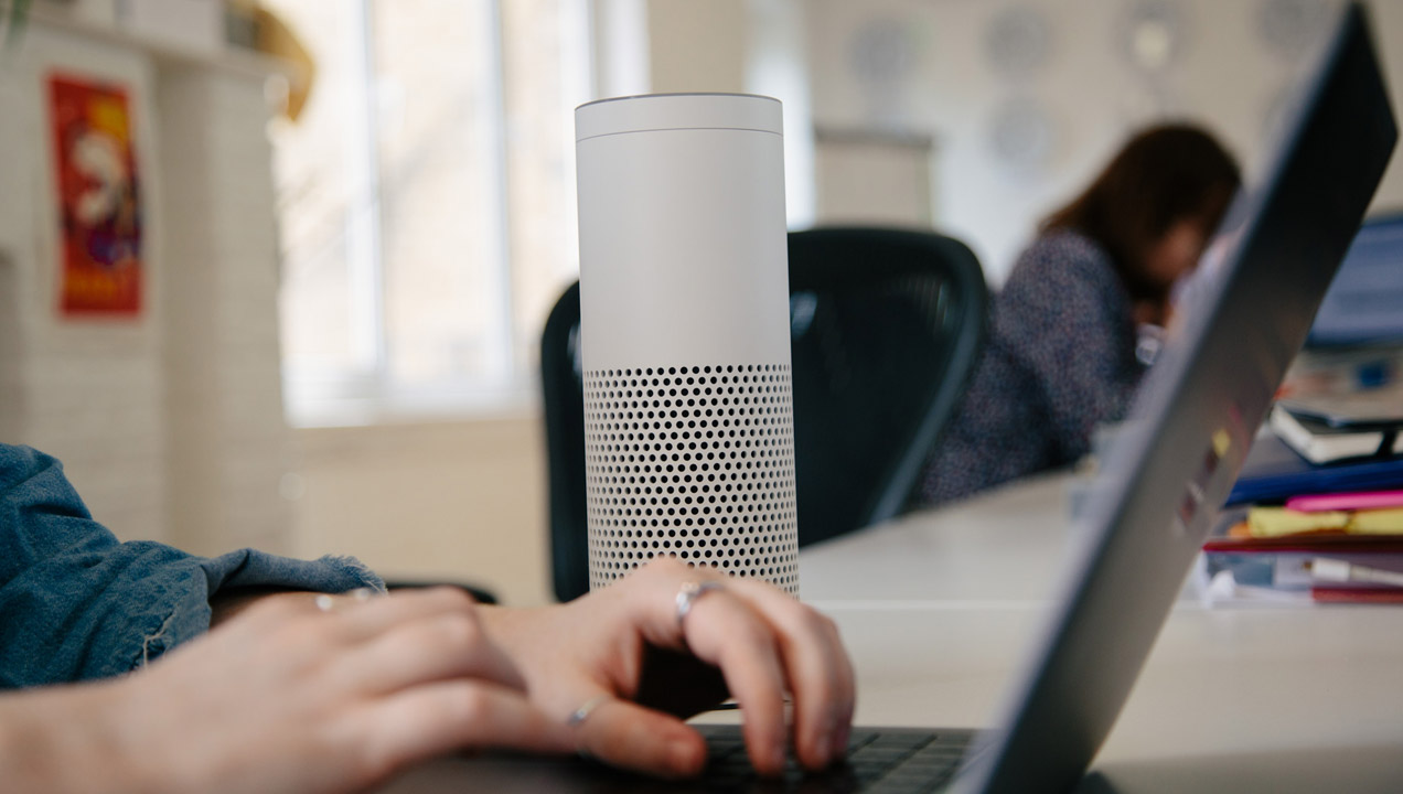 A mason echo voice assistant
