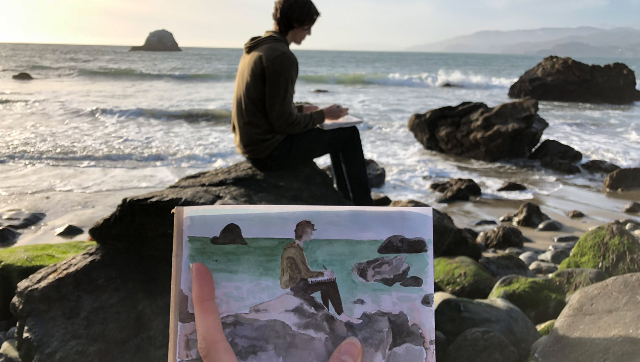 Image of Polly Sketching
