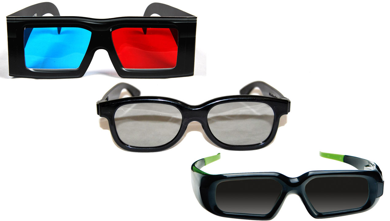 EXAMPLES OF THE DIFFERENT KINDS OF 3D GLASSES