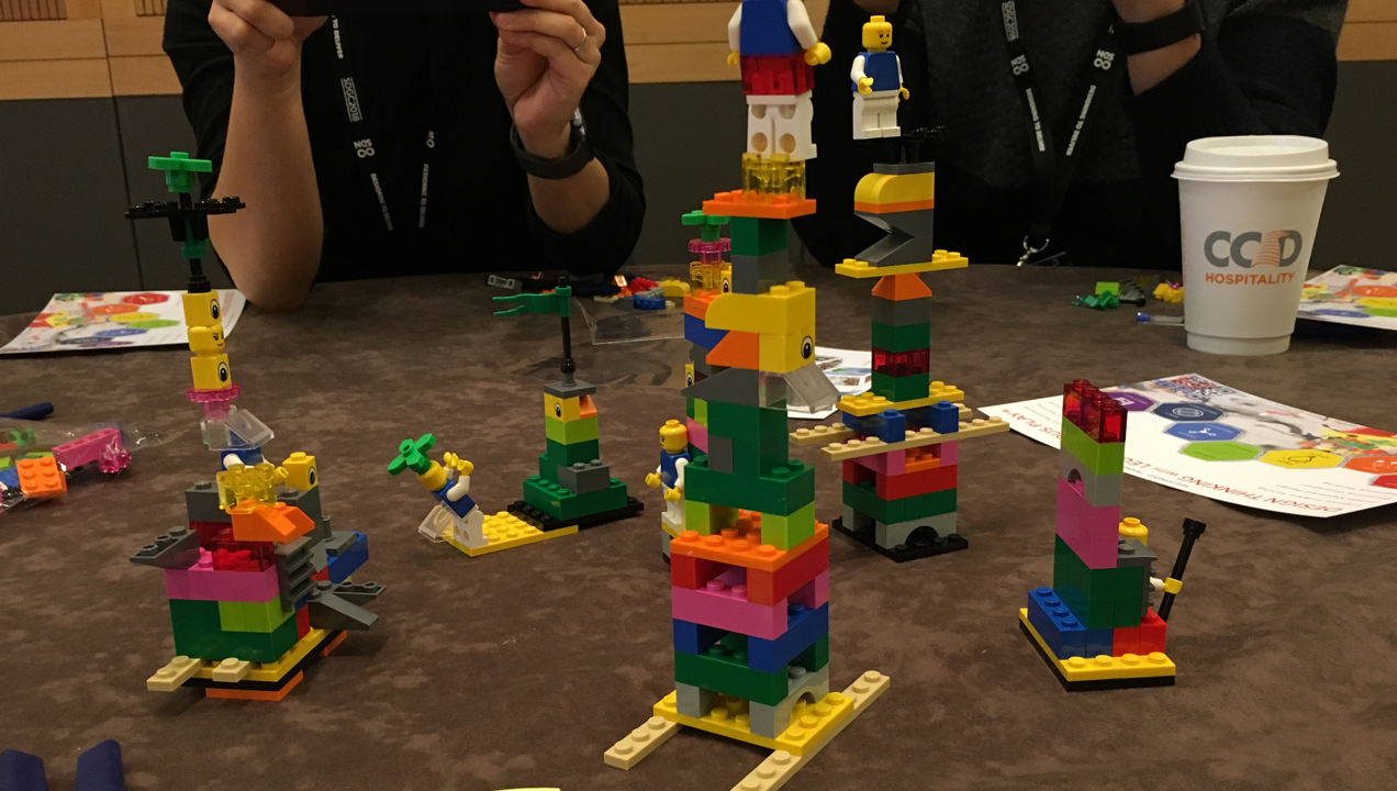 A lego workshop at the Service Design Festival