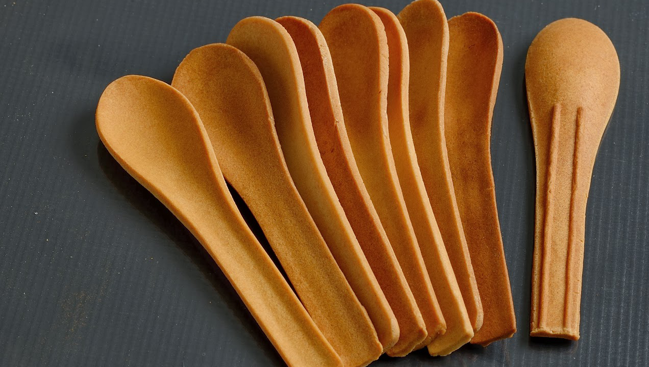 Image of edible spoons