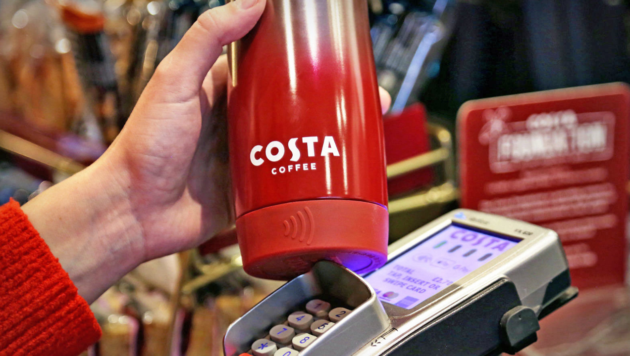 Image of contactless costa coffee cup