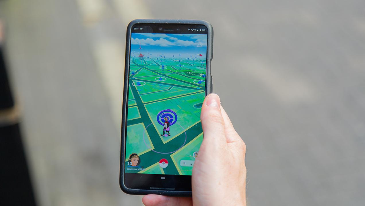 Playing Pokémon Go